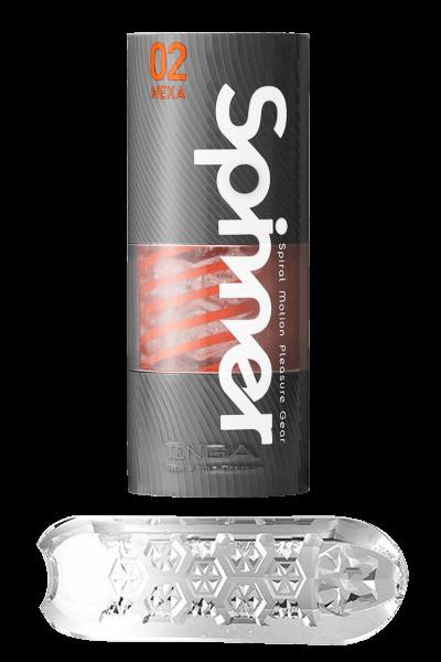Spinner Masturbator - Wiederverwendbar von Tenga - Hexa