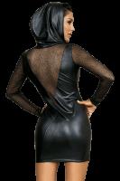 Wetlook Kleid mit Reißverschluss