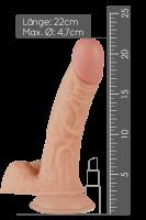 Dildo mit Saugnapf - 22cm
