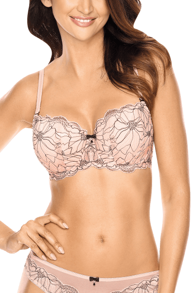 Push-Up BH rosa mit Muster