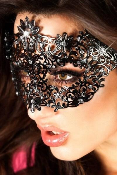 Maskenball Maske - Messing