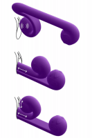 Snail Vibe - innovativer Duo-Vibrator - 24cm