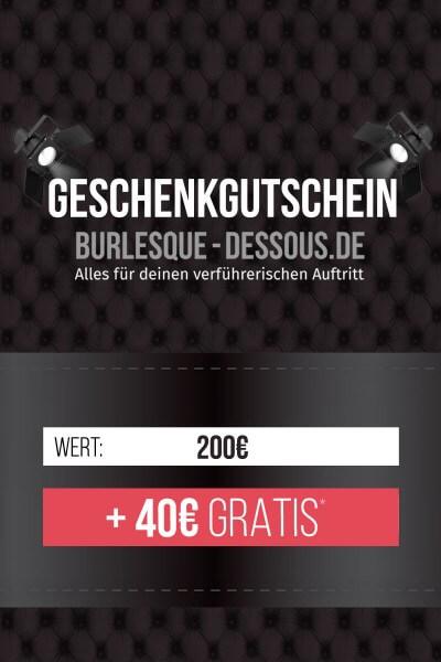 200 € Gutschein per Post