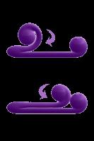 Snail Vibe - innovativer Duo-Vibrator - 24cm