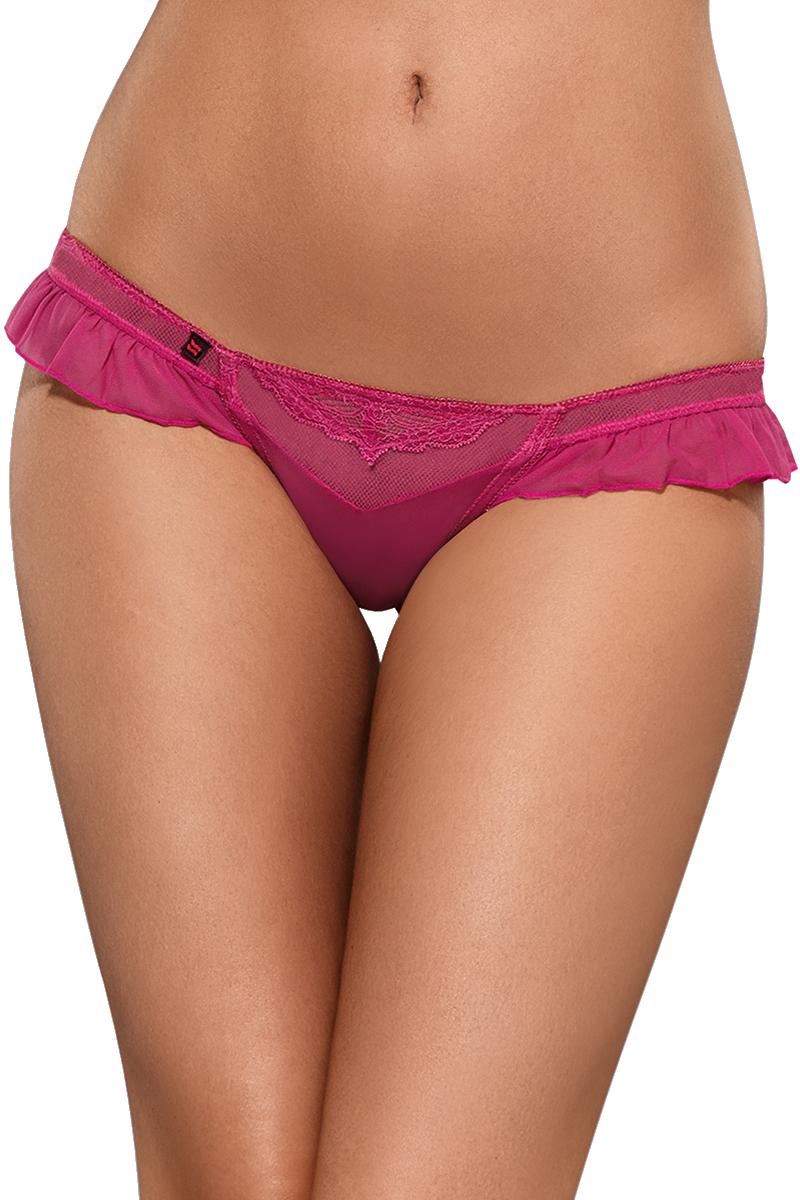 String Tanga schwarz Gr 38 40 44-46 48 50 durchsichtig bestickt rosa pink
