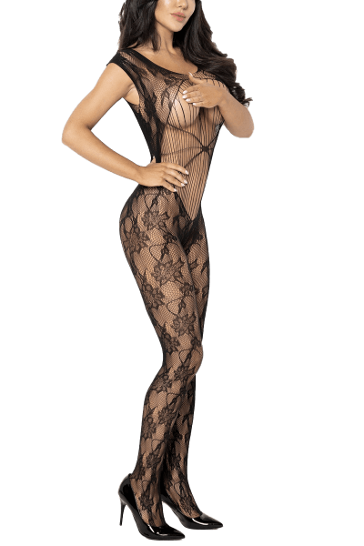 Ouvert Catsuit mit Mustern
