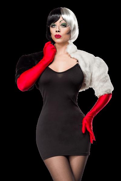 3tlg. Kostümset Cruella