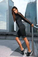 Fitness Leggings schwarz kurz