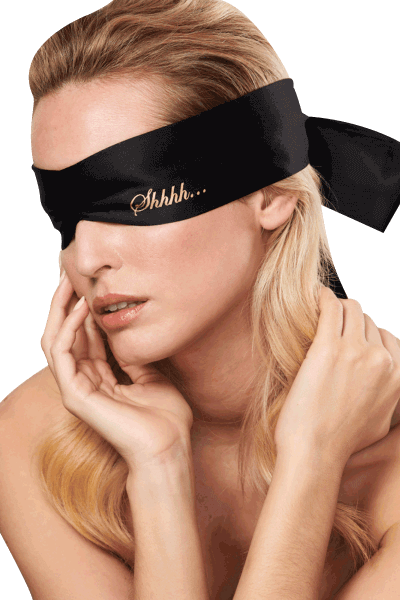 Augenbinde schwarz