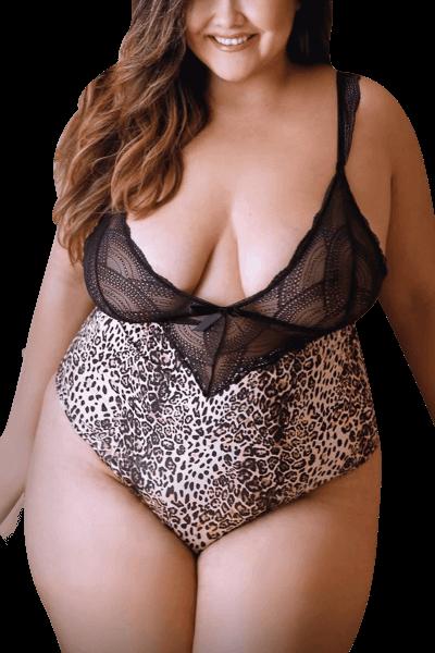 Leoparden Body Plus Size