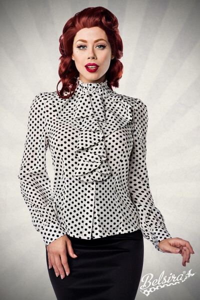 Vintage Bluse weiß/schwarz