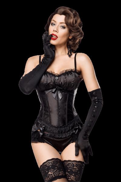 Cabaret Corsage schwarz