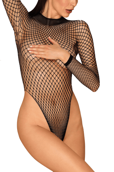 Langarm Body aus Netz