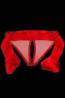 Ouvert Slip aus Netz rot