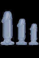 Blaues Analdildo Set S/M/L