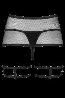 2tlg. Strapsgürtel-Set mit Riemchen