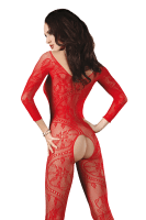 Ouvert Catsuit rot
