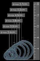 6tlg. breites Penisring-Set - Ø 2,6-5,7cm