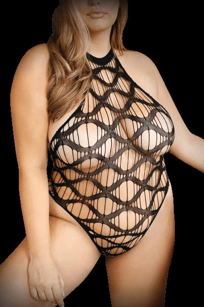 Neckholder Netzbody Plus Size