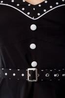 Schwarzes Rockabilly Kleid mit Punkten