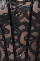 Corsage mit Strapshalter und Muster