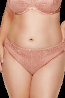 Plus Size Slip mit Satindetail Rosé