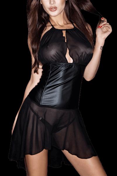 Chiffon Kleid mit Wetlook