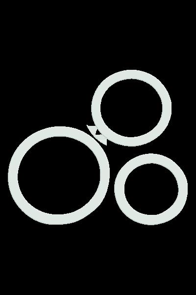 3tlg. Penisring-Set aus Silikon - Ø 3,2/3,8/5cm