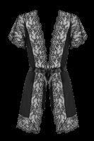 Schwarzer Kimono mit Spitze