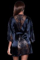 Satin Kimono mit Spitze