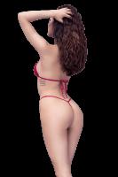3tlg. Bikini-Set rot