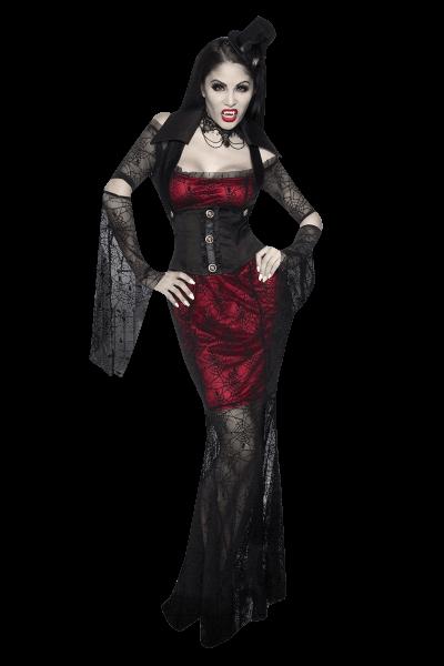 Vampir in Rot/Schwarz