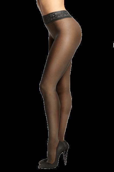 schwarze ouvert Strumpfhose
