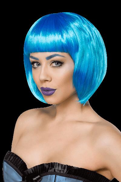 blaue Perücke