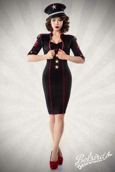 Kleid im Military-Stil