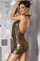 Minikleid in gold