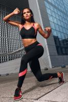 Fitness Leggings schwarz/rosa