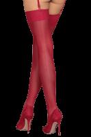 Strapsstrümpfe rubinrot