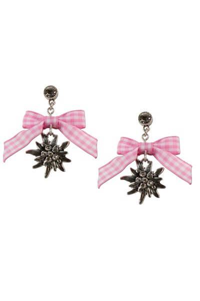 Alpenflüstern Ohrringe mit Schleife rosa
