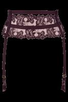 Strapsgürtel mit Blütenspitze lila