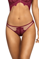 String bordeaux/beige