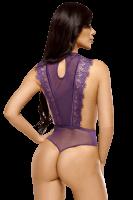 Body aus Tüll und Spitze in lila