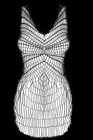 Netzkleid mit grobmaschigen Mustern