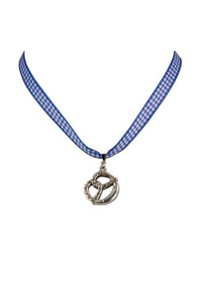 Halsband Brezel blauHalsband Brezel blau