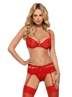 3tlg. Dessous Set in Rot