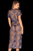 blauer Kimono aus Spitze