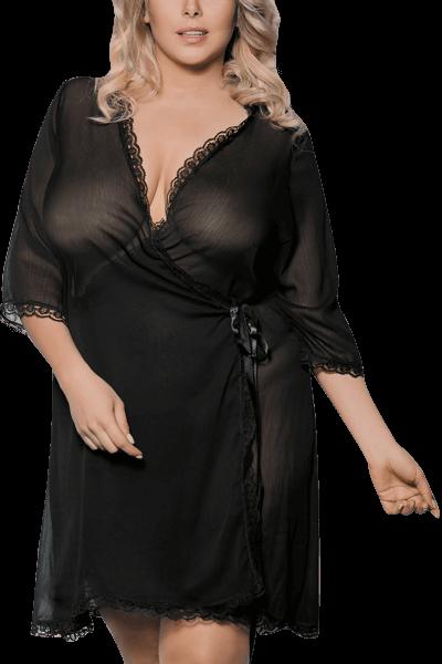 Kimono Plus Size schwarz