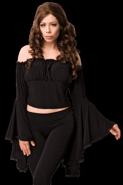 Mittelalter Bluse schwarz
