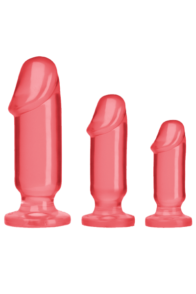 Rote Analdildo Set S/M/L