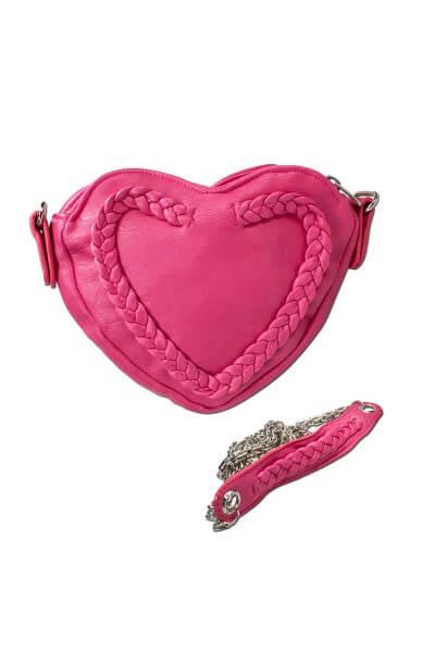 Trachtentasche Herzform pink